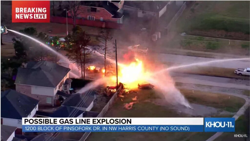 Natural gas leak explosion 1