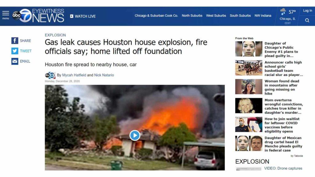 Natural gas leak explosion 2