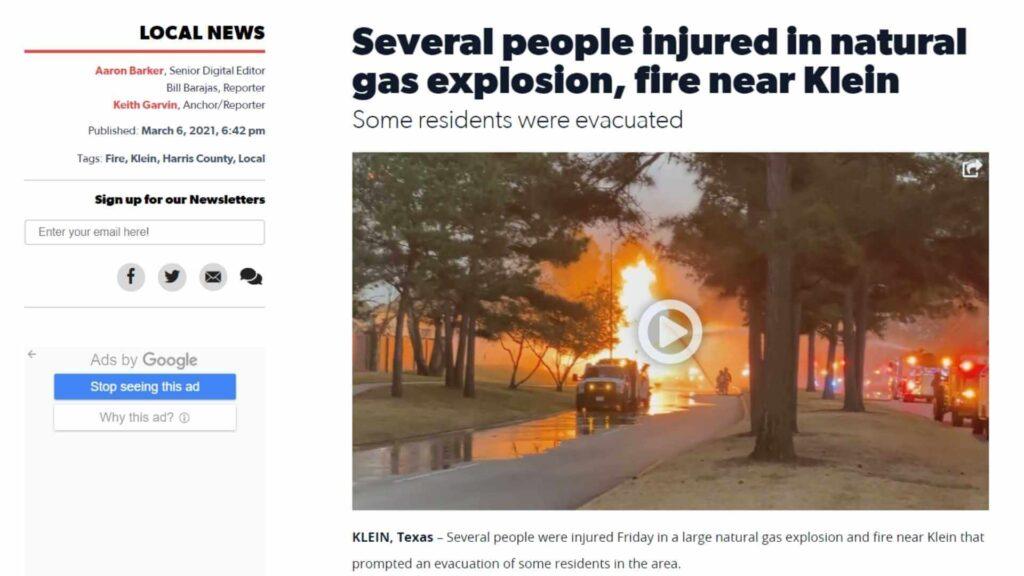 Natural gas leak explosion 4
